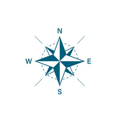 compass icon travel design compass in flat style vector image
