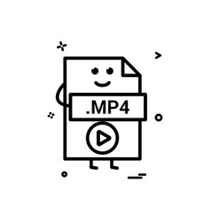 computer player file format type icon design vector image