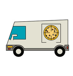 delivery truck icon image vector image