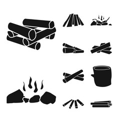 Design rough and forestry symbol set of vector