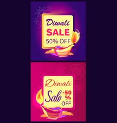 Diwali sale -50 off sign vector