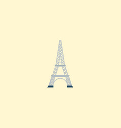 eiffel icon flat element of vector image
