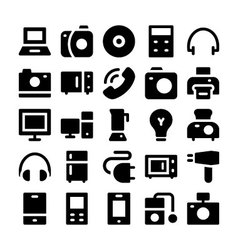 Electronics icons 1 vector image