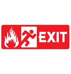 fire emergency exit door vector image