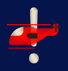 flat icon in shading style helicopter vector image
