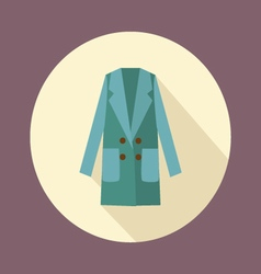 flat Women double-breasted coat icon vector image
