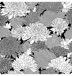 Floral Pattern Background With Chrysanthemum vector image