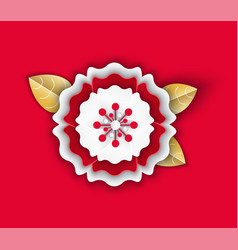 flower petals origami with leaves chinese icon vector image