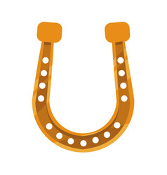 Golden horseshoe icon vector