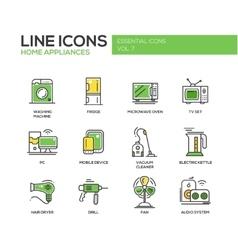 Home Appliances - line design icons set vector