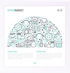 Hypermarket concept in half circle vector