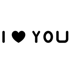 I love you the black color icon vector