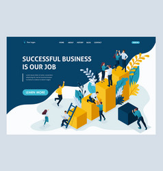 Landing page for business solutions vector