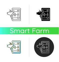 Livestock monitoring icon vector