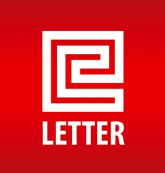 Logo letter E in the form of a labyrinth vector