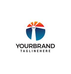 mercusuar logo design concept template vector image