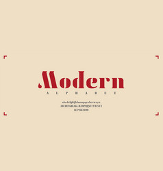 modern typeface with upper and lower cases vector image