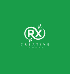 Monogram logo design combining letters r and x vector