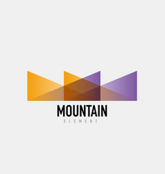 Mountain logo geometric design vector