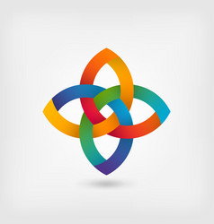 multicolor gradient abstract intertwining symbol vector image