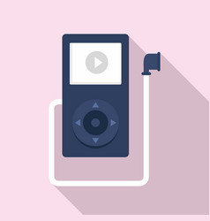 music player learning icon flat style vector image