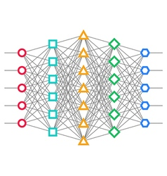 Neural net Neuron network vector image