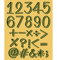 Numeric figures in green color vector image