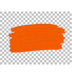 Orange colour paint brush vector