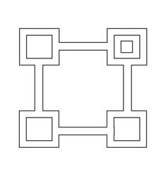 Org unit symbol line icon vector