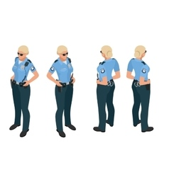 Police woman in uniform Police woman icon Police vector image