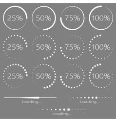 Preloaders and progress bar vector