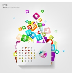 Radio icon Application buttonSocial mediaCloud vector
