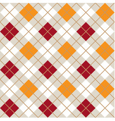 red and orange argyle harlequin seamless pattern vector image