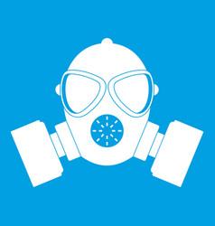 Respirator icon white vector