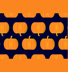 ripe pumpkin on a blue background vector image