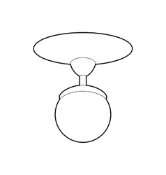 Round chandelier icon outline style vector