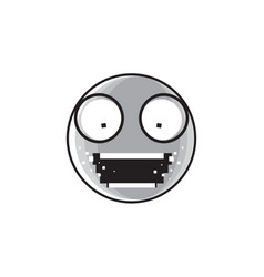 Sad cartoon face shocked screaming negative people vector