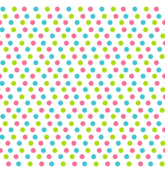 Seamless pattern with multicolored dots isolated vector image