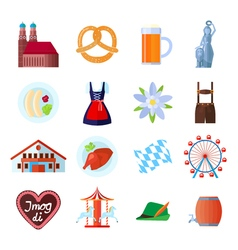 Set of Oktoberfest icons vector