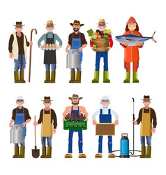 set of people of different professions vector image