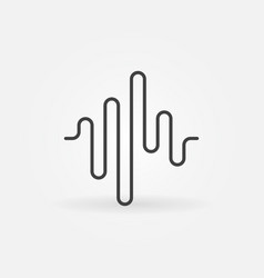 Sound wave concept icon in outline style vector