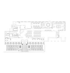 Standard cafe furniture symbols on floor plans vector