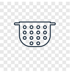 Strainer concept linear icon isolated on vector