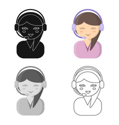 Support cartoon icon for web and vector