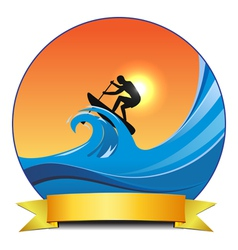 Surf paddling vector