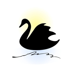 Swan silhouette vector image