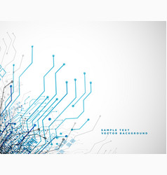 Technology network circuit lines abstract vector