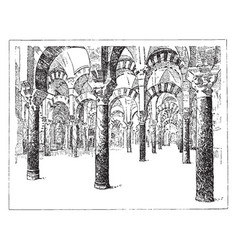 the mosque of cordova the art of islamic spain vector image