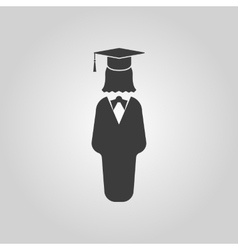 The student girl icon School and academy college vector image