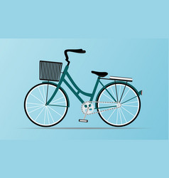 Vintage style and modern city bicycle vector